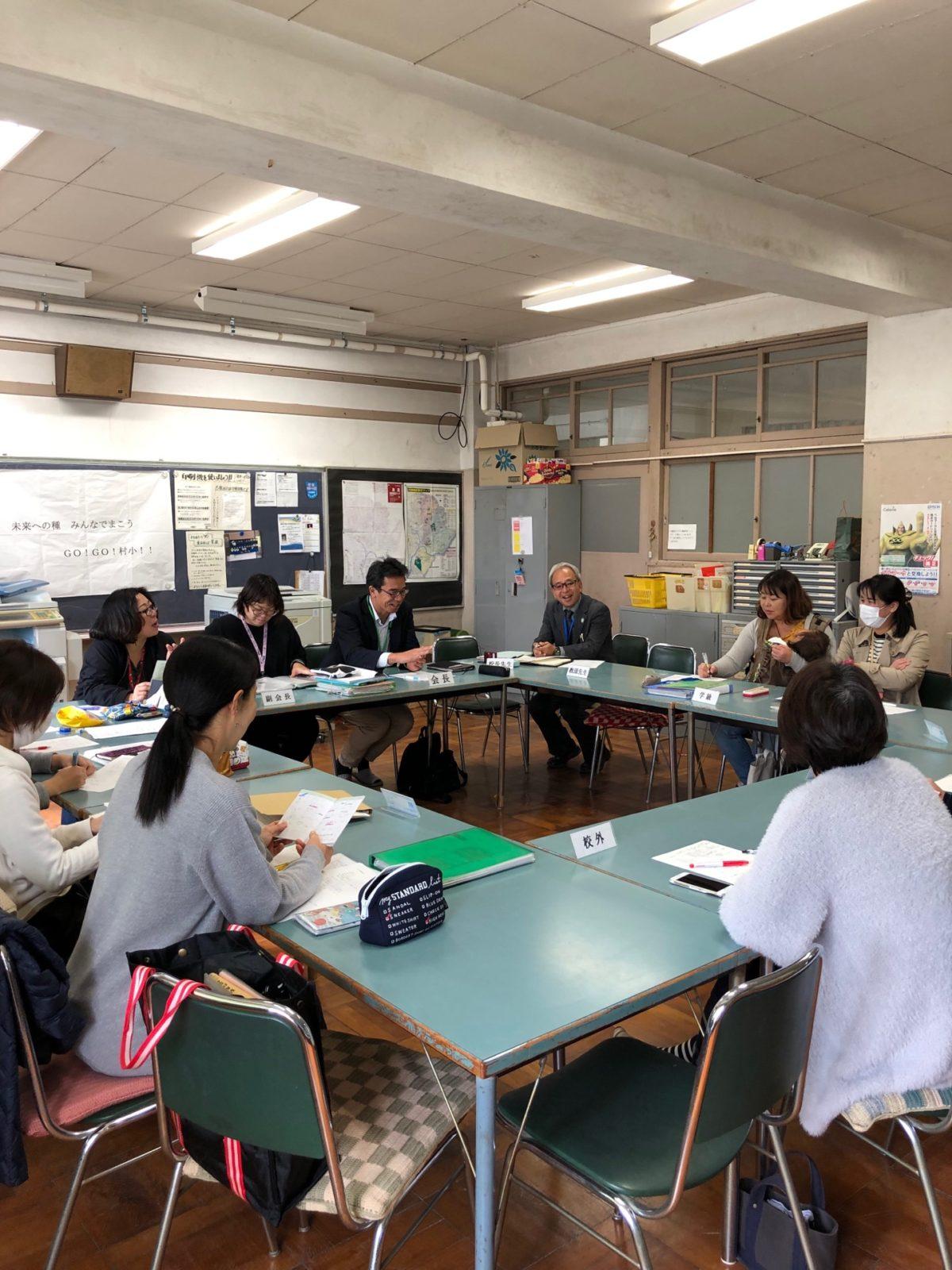 村岡小学校PTAの取材をしてきました